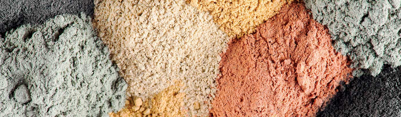 Le nostre argille: prodotti naturali al 100%